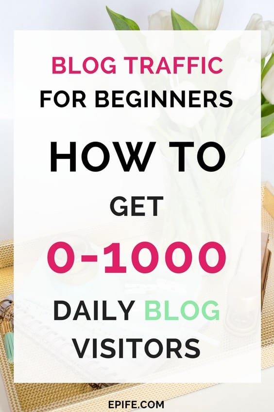 Blog traffic for beginners - Get more than 1000 daily blog visitors by 3 techniques. Blog traffic tips, grow blog traffic, blog traffic increase, blog traffic boost, blogging for beginners - Use these tips to increase blog traffic to new blogs.