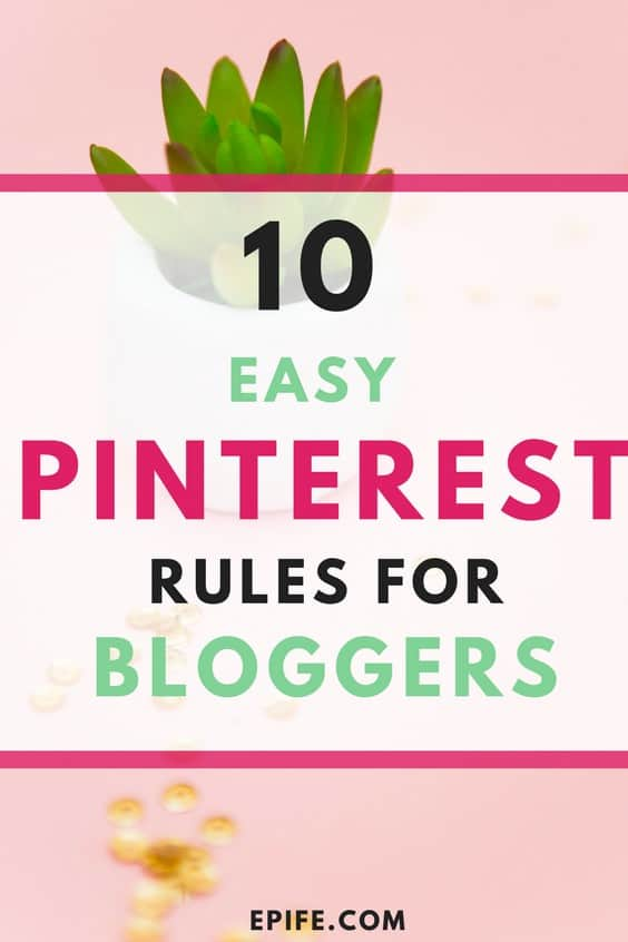 Not sure, how does Pinterest work? These are 10 easy rules to use Pinterest for bloggers, small business owners and entrepreneurs. By following Pinterest strategies, it's easier to get traffic to your blog. Look at some easy rules to use pinterest and drive traffic to your blog. #pinterest #bloggingtips #blogging #socialmedia #blog