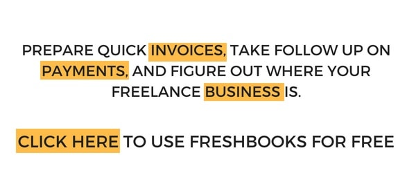 invoice for freelance client. Freshbooks accounting software for freelance business