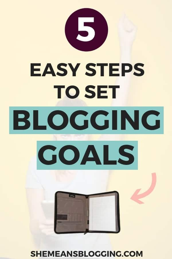 how to set blogging goals for 2019, create blogging goals, set goals for blogging, set goals for business