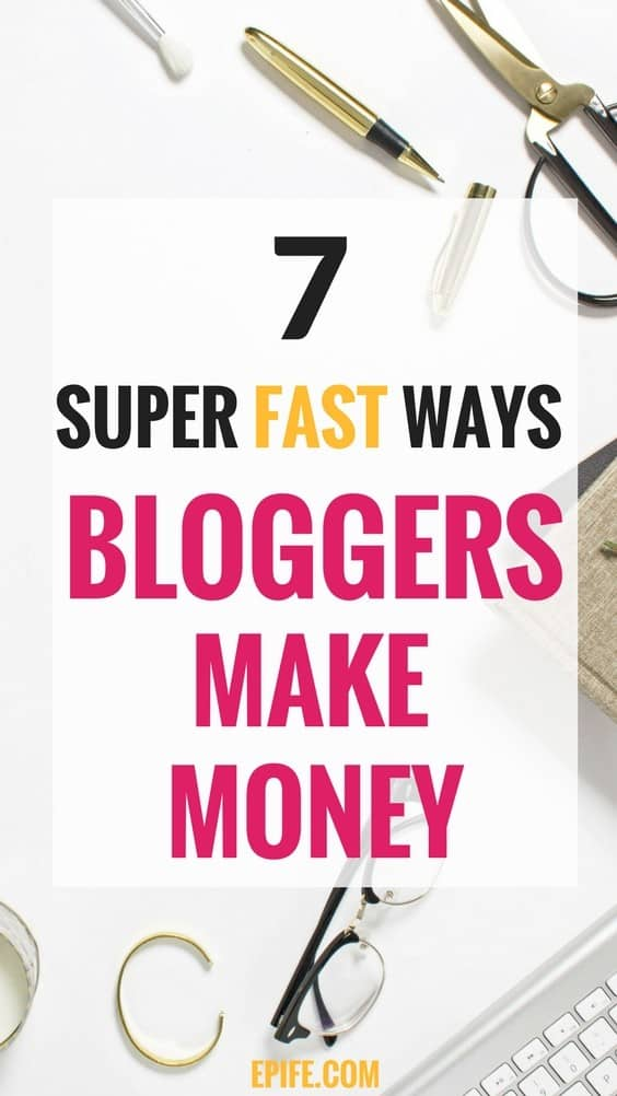 How to earn living as a blogger? Wondering, how do bloggers make money from their blogs? These 7 possible money-making ways are best to get started and make money from blogging | Blogs make money | how to blog for money | Make money blogging for beginners | Make money blogging fast | how to make money blogging #blogging #makemoney #bloggingtips