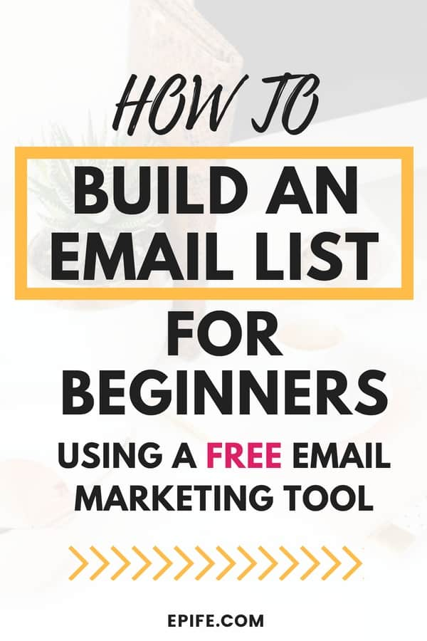 Learn how to build an email list for beginners using a totally free email marketing tool. This post shows two steps to create an email list, and grow it everyday. Follow this simple tutorial to create an email list for your blog #blogging #email #marketing #bloggingtips