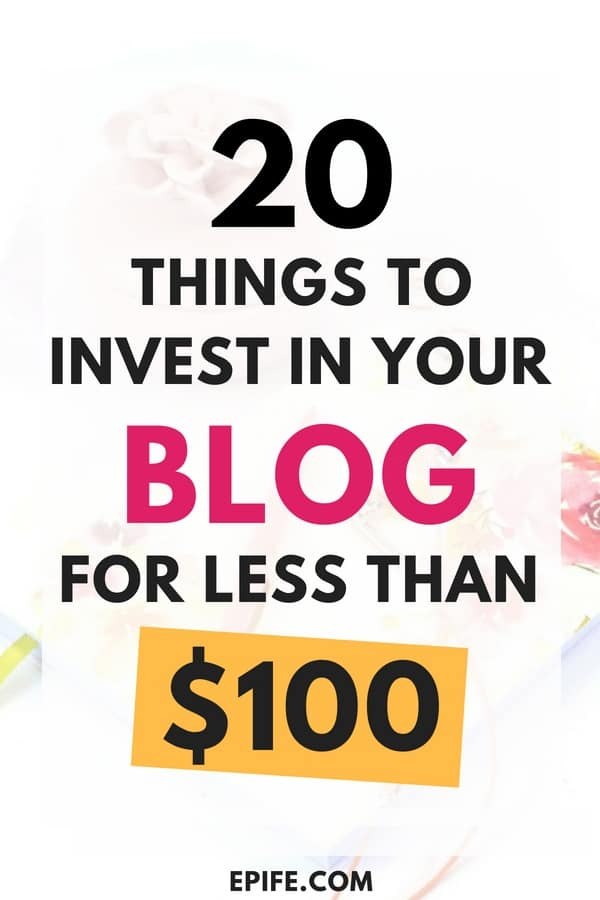 New to blogging? Look at these 20 ideas to make small investment in your blog for less than $100! Grow your blog by automating the system using these ideas. Read this whole guide, and boost your blog growth. #blogging #bloggingtips #blog #business #makemoney