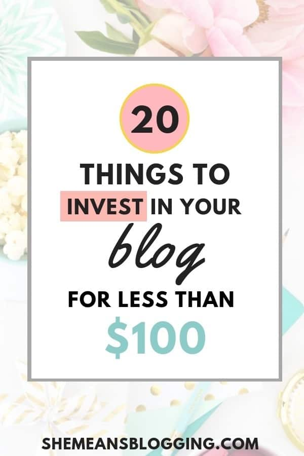 Are you ready to grow your blog? It's time to make small blogging investment. Click to find out 20 small things every blogger affords to invest in a blog as less than $100! I mentioned small ideas to grow your blog. #blogging #bloggingtips #blog #business #makemoney