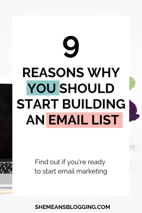 Email marketing is huge for bloggers! Here's why you should start an email list as a blogger, and read what amazing things you can do with your blog #blogging #bloggingtips #blogger #marketing #email