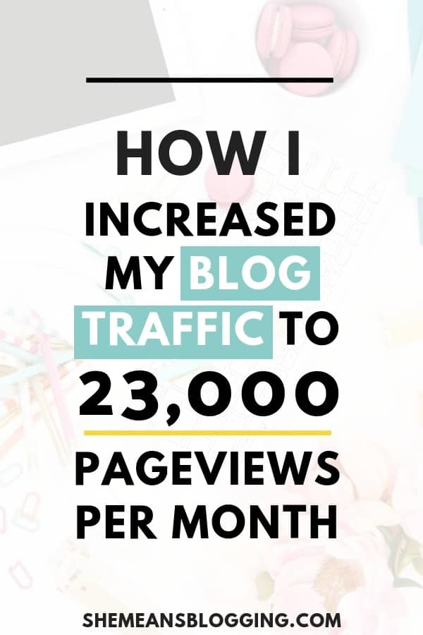 Case-Study: How I increased my blog traffic to 23,000 pageviews every month! Learn all strategies and free tools I use to grow my blog every day. Click to find out all steps I followed. #blogging #bloggingtips