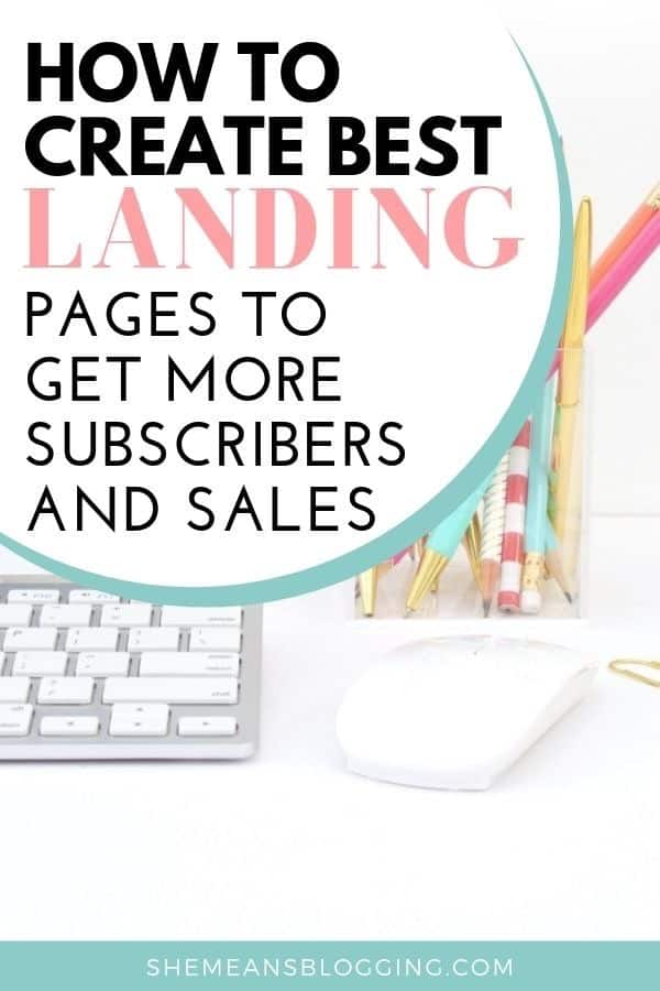 Do you wonder, how landing pages grow subscribers, and sales? Learn how exactly I create stunning landing pages to grow my email list fast! Here's simple steps to design landing pages for your blog and get more email subscribers. #bloggingtips #emailmarketing #business #blogtips #sales #marketing #bloggingresources