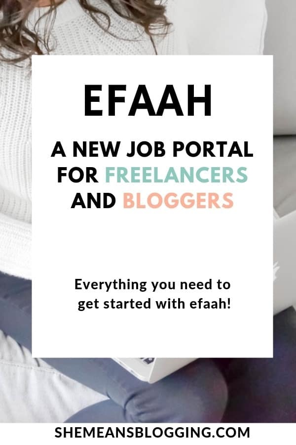 Efaah jobs - A new freelance marketplace for freelancers and bloggers! Ready to grow your freelance income? This new job portal is for you! Sign up with free account, and get excited to new job postings. #freelance #freelancing #workfromhome #bloggers #selfemployed