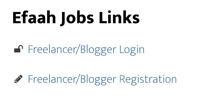 efaah jobs, freelance jobs