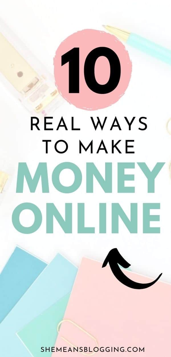 Looking for legit ways to make money online? Start with these 10 legitimate ways to earn money online! People make 6-figures income with these profitable ideas for making money. Click to find out! #HowToMakeMoney #makemoneyonline #moneytips #sidehustle #workfromhome #onlinejobs #earnmoney #moneyfromhome #makemoney