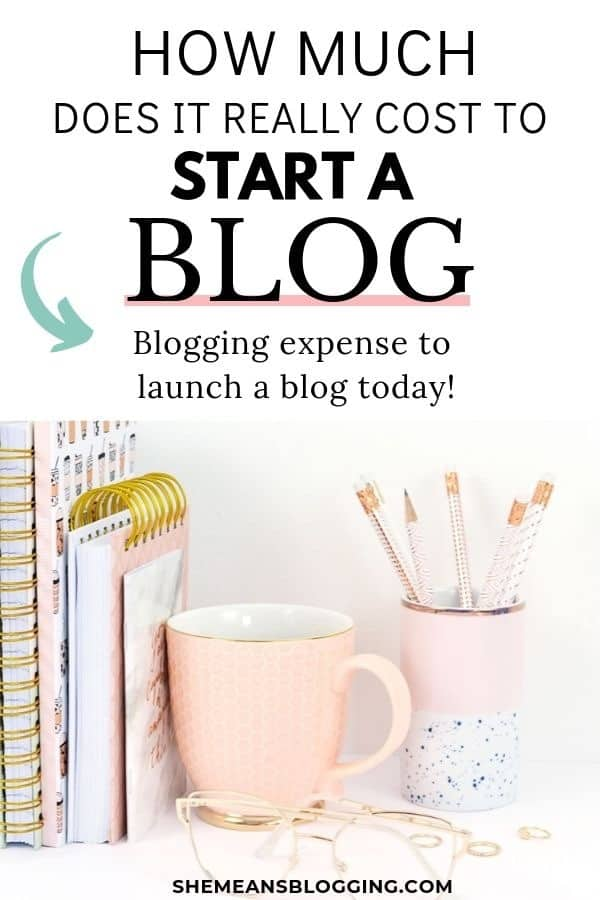 Thinking about blog expenses to start a blog? How much does it really cost to start a blog? Click to find out the cheap blogging cost to create a new blog today! #bloggingtips #blogtips #blog #blogging #business