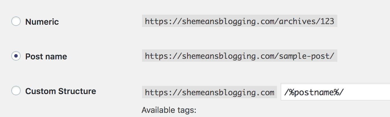 after installing wordpress. set permalinks