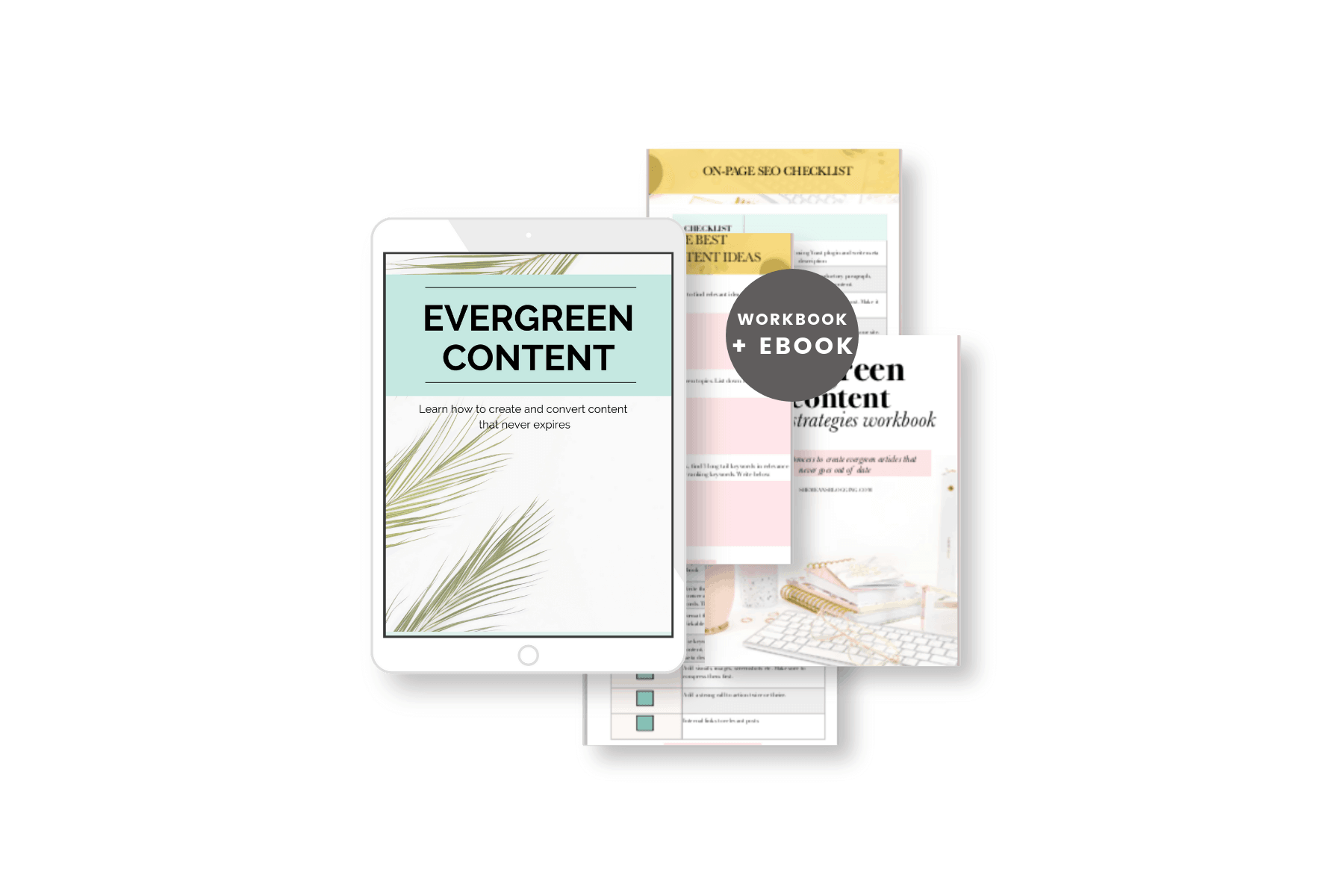 evergreen content ebook and workbook