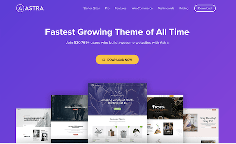 wpastra - best wordpress themes for bloggers