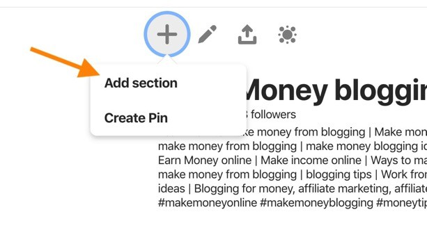 pinterest sections, how to use pinterest sections, how to create sections on pinterest,are pinterest sections searchable