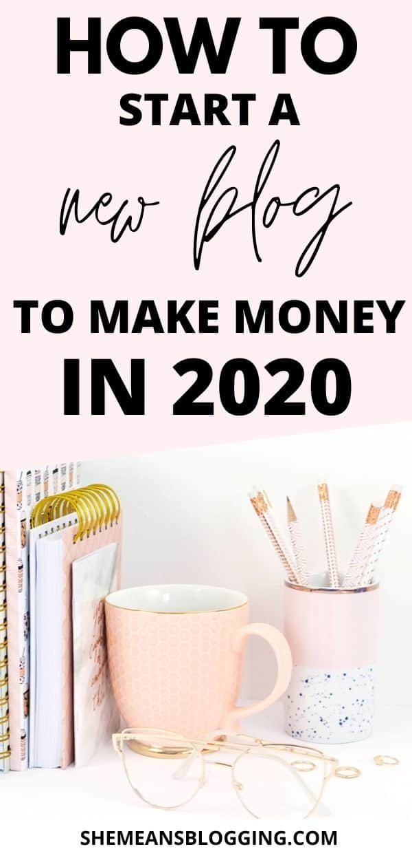 Want to start a blog to make money in 2020? Get started with this step by step tutorial on how to start a blog to make money in 2020! Follow 10 steps to create a blog today and make money blogging. I show you exactly how to start a new blog from scratch and grow your blog. #howtostartablog #startablog #bloggingforbeginners #bloggingtips