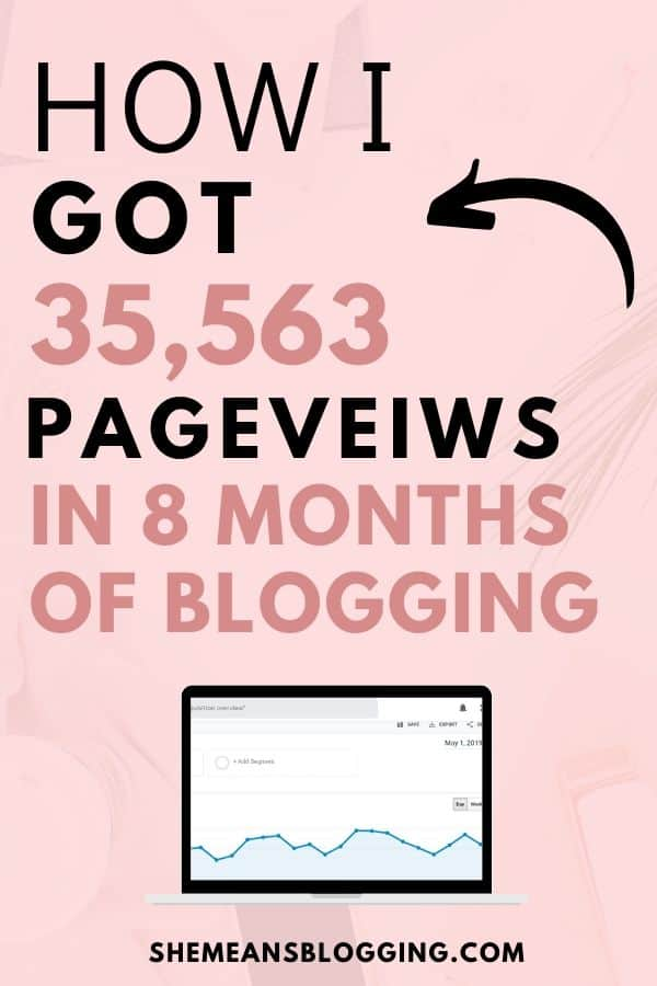 How I got 35,563 pageviews in only 8 months of starting a blog! Learn my exact blogging tips to increase blog traffic. In this post, I shared blog traffic tips for bloggers so that you grow your new blog in less than 8 months. Get blog traffic. Increase website traffic using these tips for beginner bloggers #blogtraffic #bloggingtips #bloggingforbeginners #blogtips #newbloggers