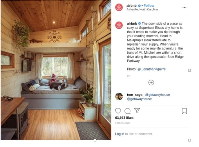 Airbnb use instagram to get customers and clients. Businesses use instagram to get clients