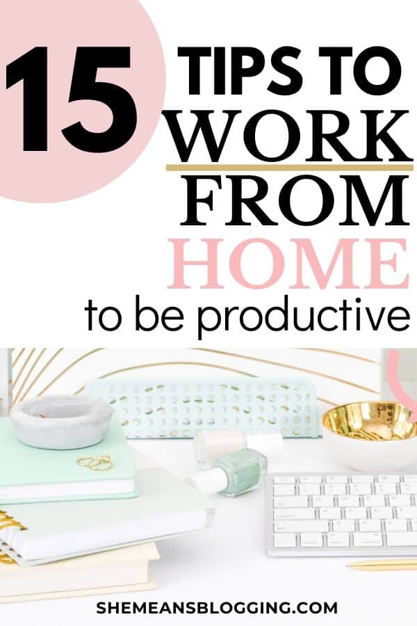 Are you working from home, and not feel productive? Read on to find the best work from home tips to increase productivity and get more work done. Here are some awesome tips to work from home for all entrepreneurs, freelancers and stay at home individuals. Now, easily work from home. #workfromhome #workathome #freelancing