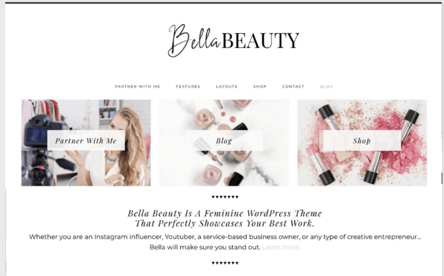 lifestyle theme for female bloggers