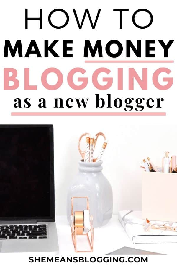 Make money blogging can be challenging for new bloggers! Here's how I made $600+ in my first months of blogging. I showed exactly how to make money blogging as a new blogger with these blogging tips. #makemoneyblogging #bloggingtips #bloggingforbeginners