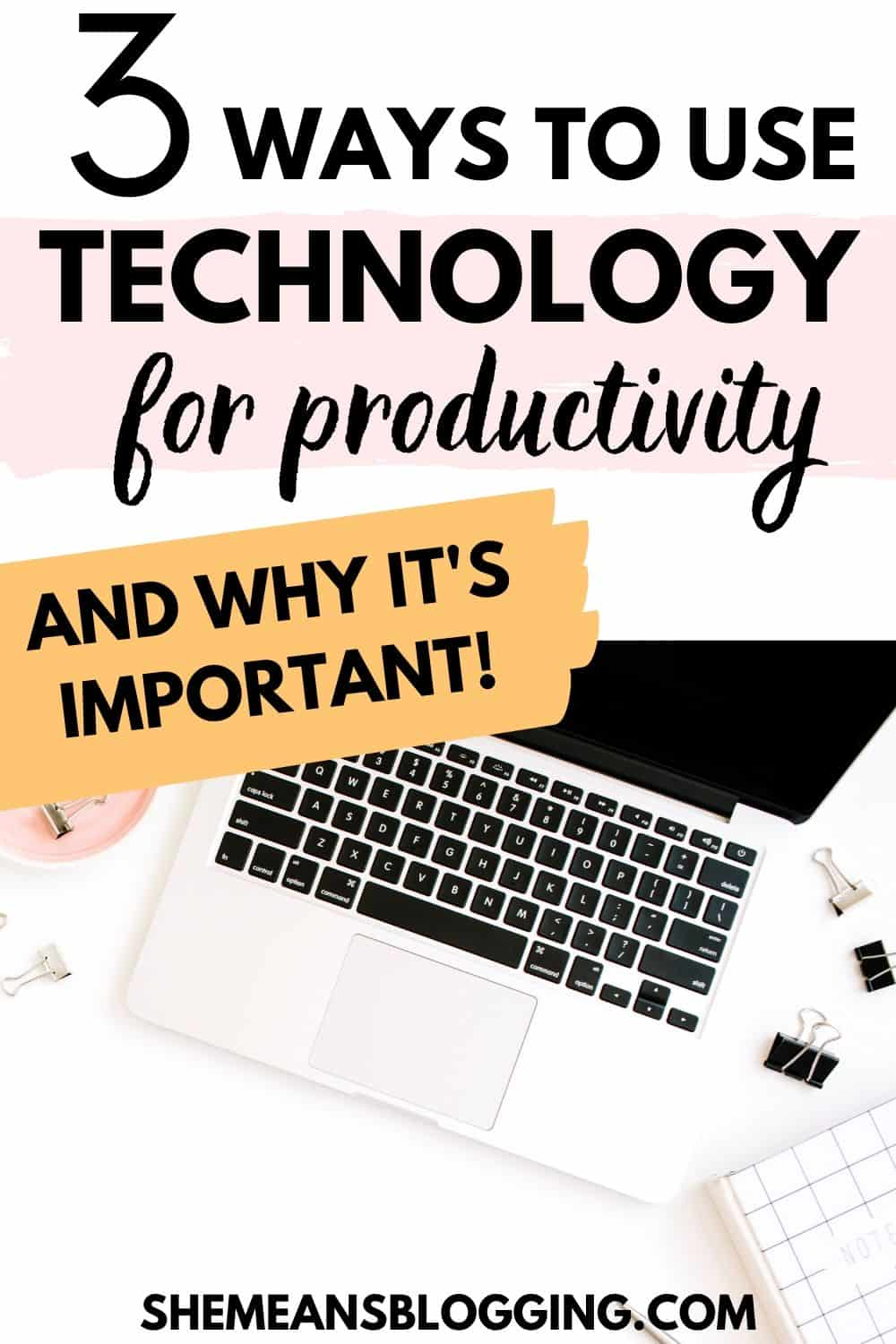 How using technology improves productivity? Here are 3 simple ways to use technology and other productivity apps to increase efficiency while you work from home or at workplace! Using technology for productivity is so crucial. Find out how? #productivitytips #workfromhome