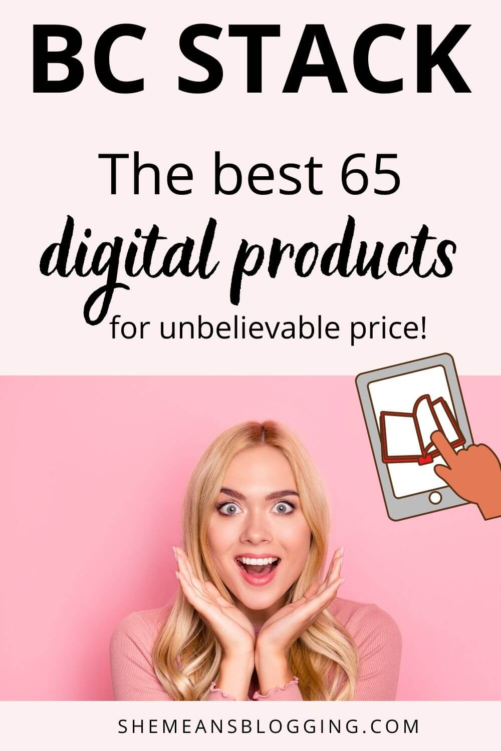 BC stack is here! Get 65+ digital products from best entrepreneurs, bloggers and business owners. Learn SEO, social media, email marketing, pinterest, podcasting, make money blogging, wordpress etc. Get the whole bundle for unbelievable price! Check out here #bloggingforbeginners #entrepreneurs #makemoneyblogging #onlinebusiness