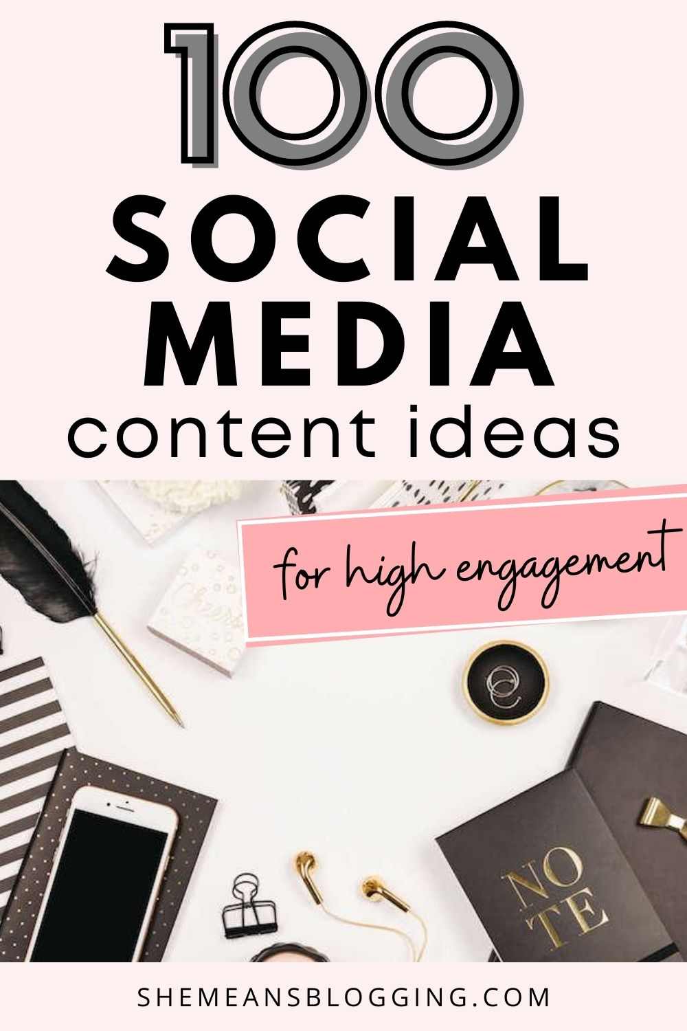Trying hard to be consistent on social media? Try out these 100+ social media content ideas for killer engagement on social media! Find the best ideas for social media content strategy. This is actually FREE 3 months of content for you. #socialmediatips #socialmedia #socialmediamarketing