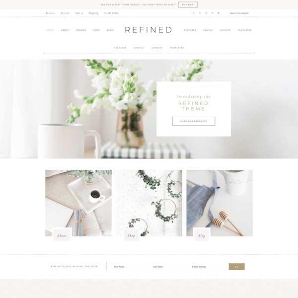 pretty feminine wordpress theme for bloggers