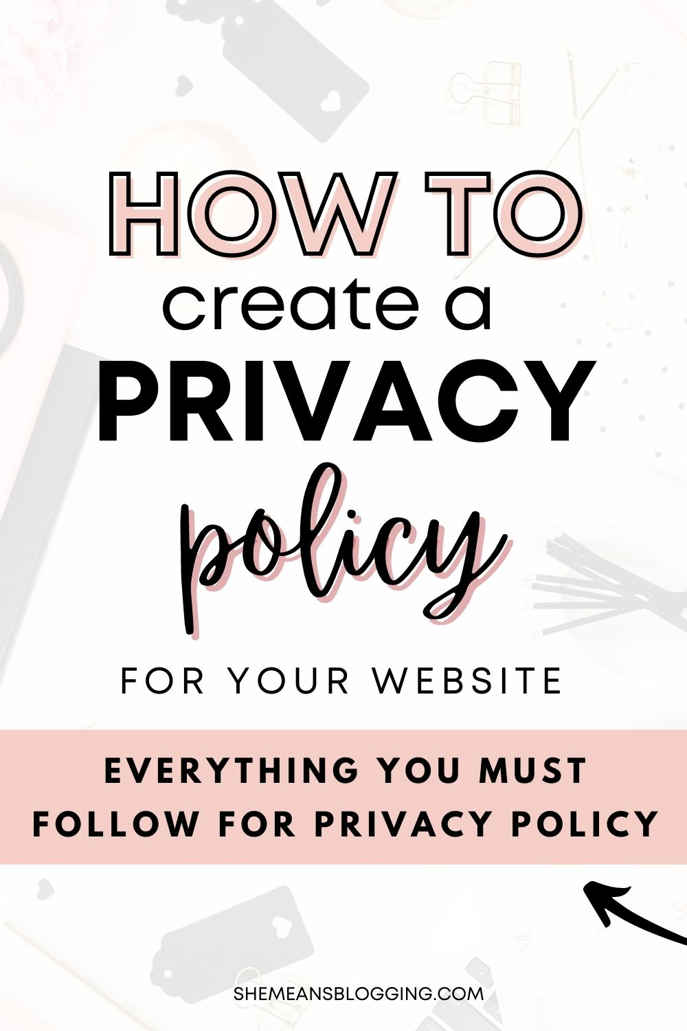 Privacy policy is a legally required document for every website! Your website must have a privacy policy. Here is how to create a privacy policy for your website. Make your website legally protective with this privacy policy #bloggingtips