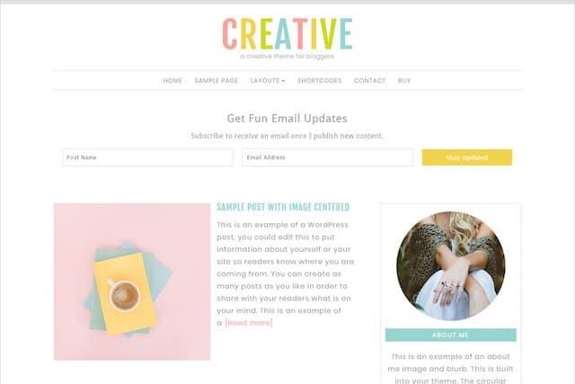 creative wordpress theme for female entrepreneurs