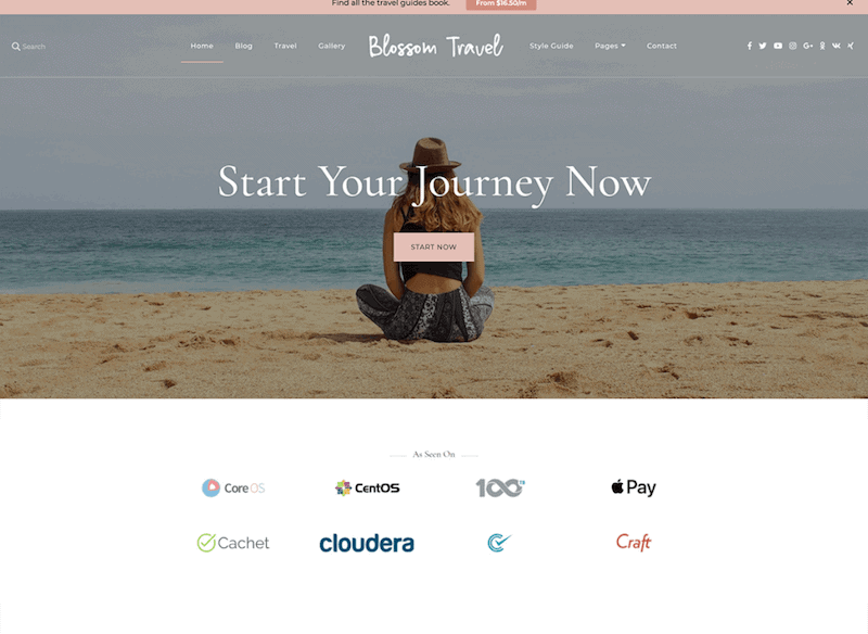 travel theme for female bloggers