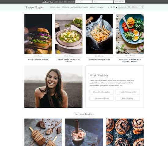 recipe wordpress theme for female food bloggers
