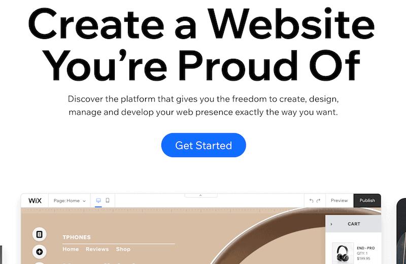 Free blogging platform - Wix