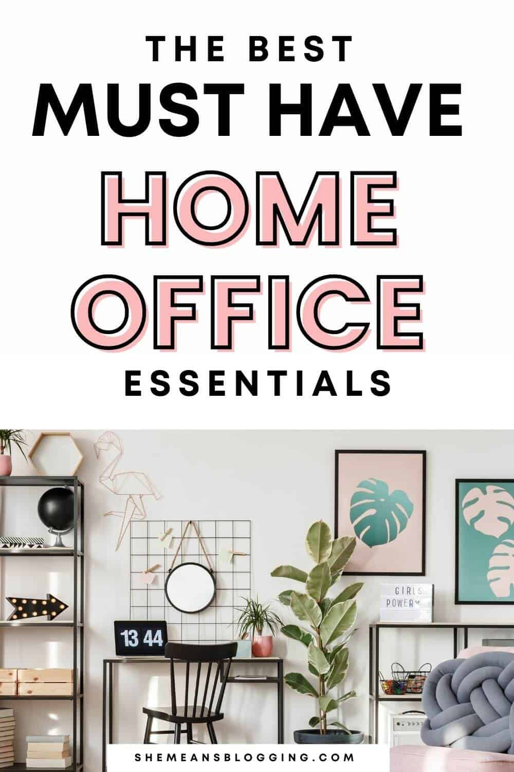 Thinking for a perfect home workplace? These are some best must have home office essentials! Make your own work at home home office with these home office items. Click to check out work from home office essentials.
