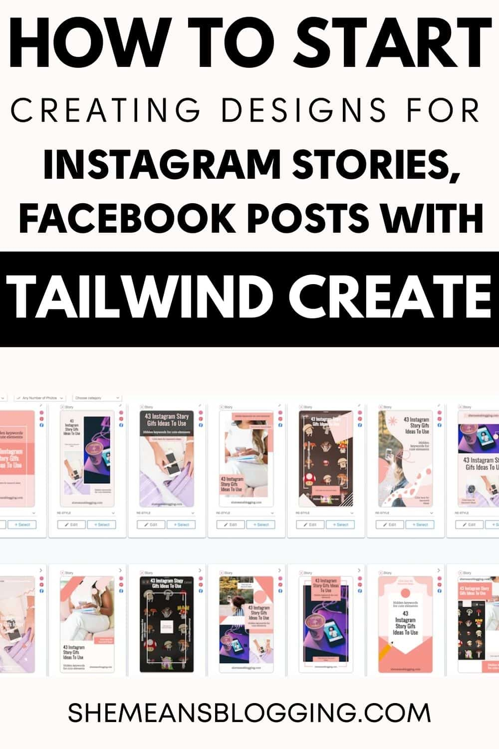 Tailwind Create Review : How to start using tailwind create for designing graphics for Instagram posts, Facebook posts, Instagram stories and Pinterest pins! Click to follow this fast image designing tool for hundreds of designs in seconds. Social media content creation and scheduling tool.