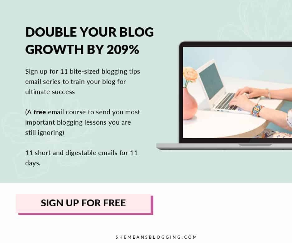 free blogging tips course