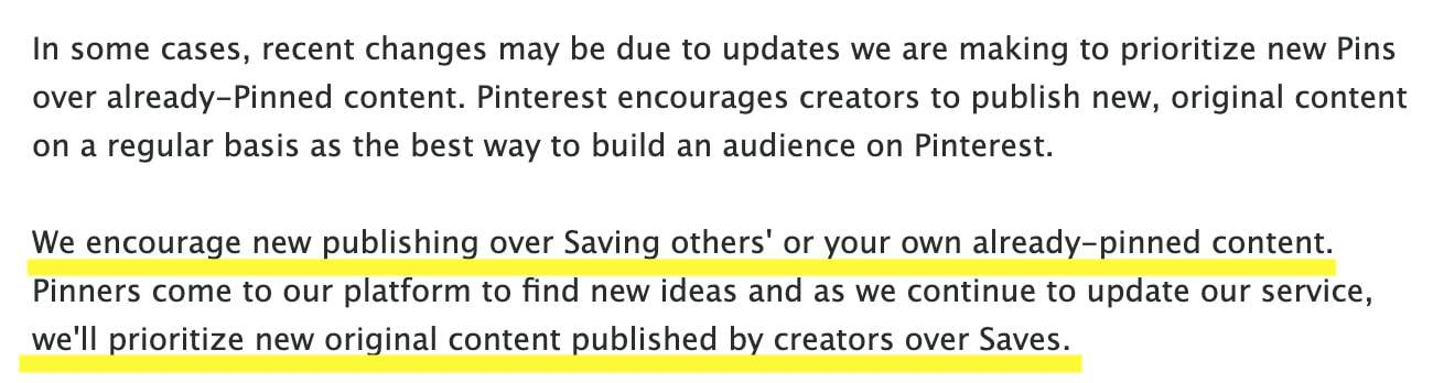 pinterest tips on content creation.
