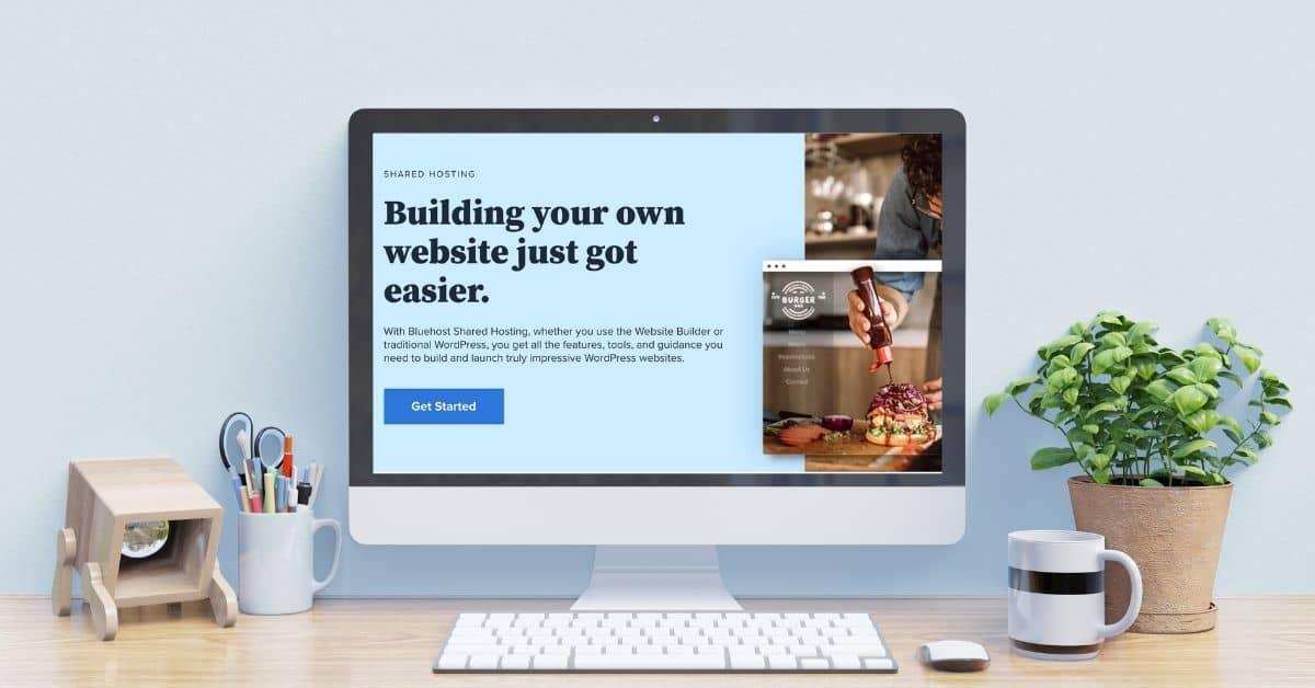desktop mockup for bluehost review