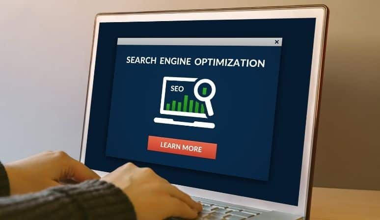 laptop screen   seo tips, search engine optimization.