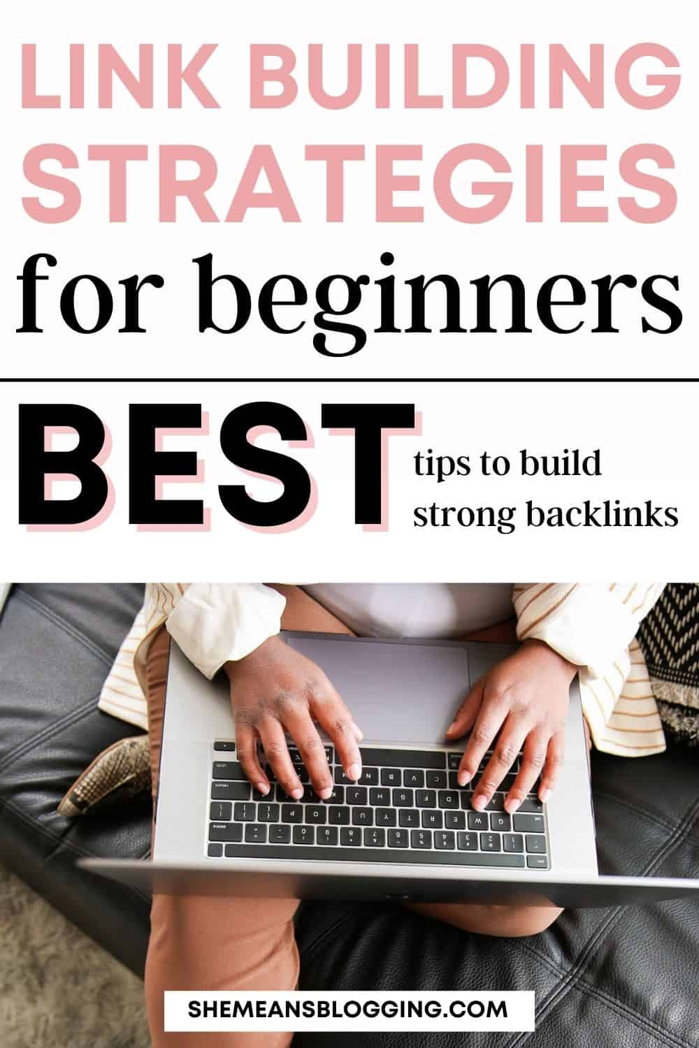 Pinnable image for link building tips for beginners